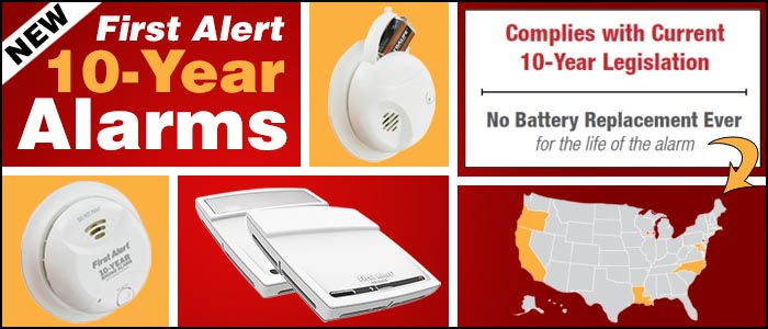 Fist Alert 10 Year Smoke Alarms and 10 Year Carbon Monoxide Detectors