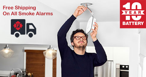 First Alert free shipping on smoke alarms