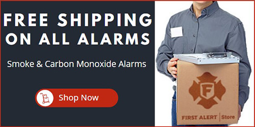free shipping on smoke fire and co detectors