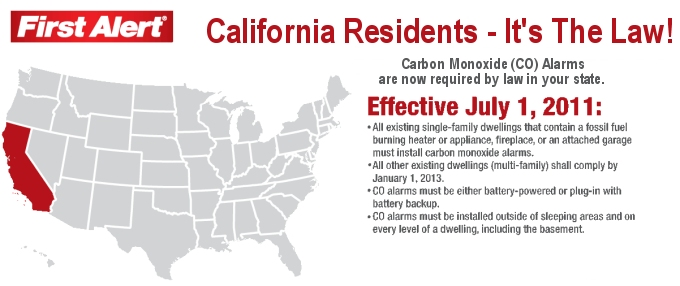 California Resident Carbon Monoxide Law