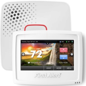 onelink by first alert wifi thermostat and smoke alarm