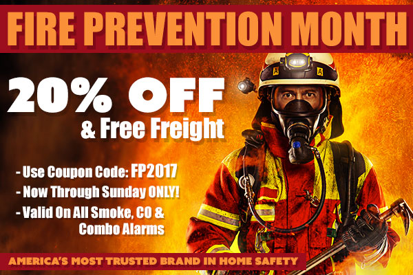 First Alert Fire Prevention Month Sale