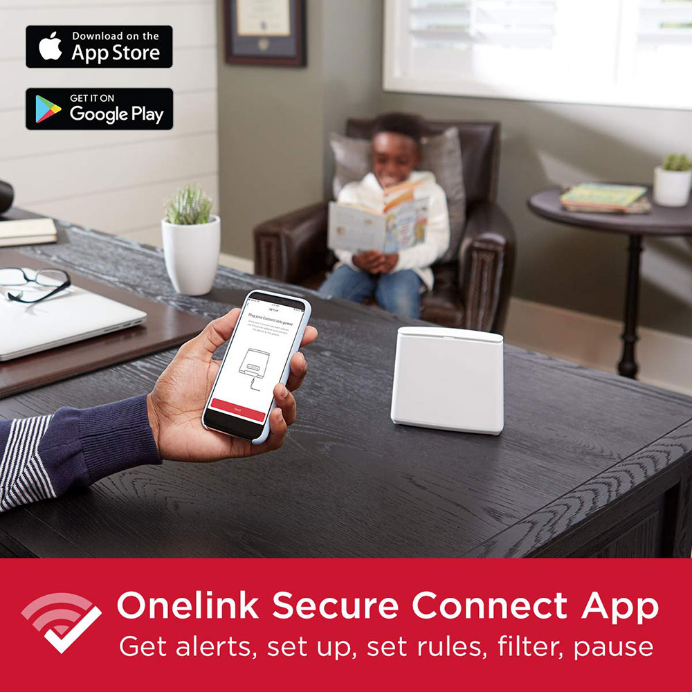 Onelink Secure Connect Dual-Band Mesh Wi-Fi Router System | Whole Home Coverage Up to 1,500 Sq Ft