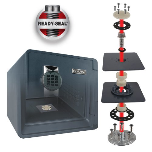 First Alert  94 Cu  Ft  Combination Waterproof and Fire Resistant Bolt-Down  Safe with Ready-Seal Technology - 2087F-BD