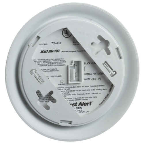 First Alert 9120 Hardwired Interconnected Smoke Alarm