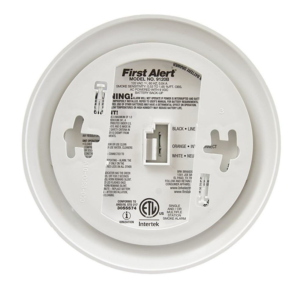 first alert 9120b hardwired smoke alarm with battery backup first rh firstalertstore com first alert smoke alarm 9120b manual first alert 9120b owners manual