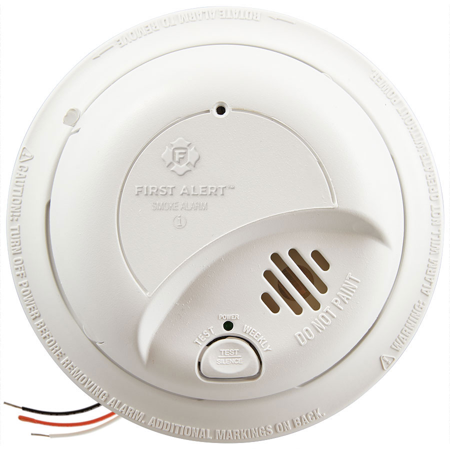 First Alert 9120B Hardwired Smoke Alarm with Battery Backup | First on open wire detector, 4 wire relay, 4 wire oven, 8 wire smoke detector, 2 wire smoke detector, 4 wire intercom, 4 wire range, 3 wire smoke detector, 4 wire furnace, 4 wire garage door opener, 4 wire generator, 4 wire switch, 4 wire pull stations, 4 wire stove, 4 wire duct detectors,