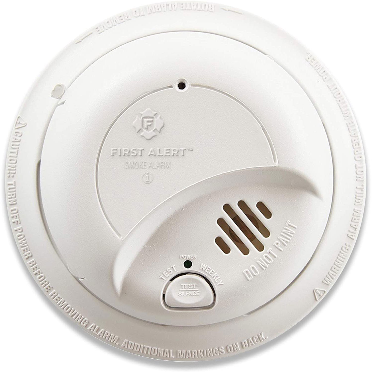 First Alert BRK Brands Hardwired Ionization Smoke Alarm with 10-Year Sealed Battery, 9120LBL