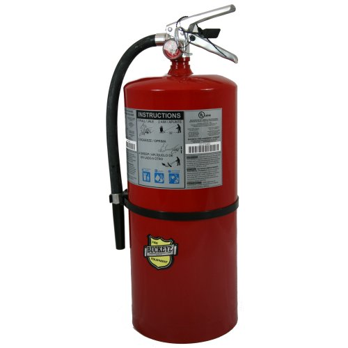 First Alert Rechargeable Heavy Duty Commercial Fire Extinguisher UL Rated 20-A:120-B:C (Red) - FE20A120B