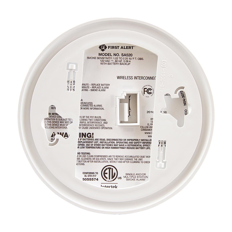 first alert sa521cn 3st wireless interconnect hardwired smoke alarm first alert store. Black Bedroom Furniture Sets. Home Design Ideas