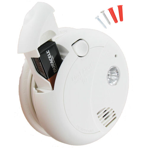 Photoelectric Sensor Smoke Alarm with Escape Light battery operated