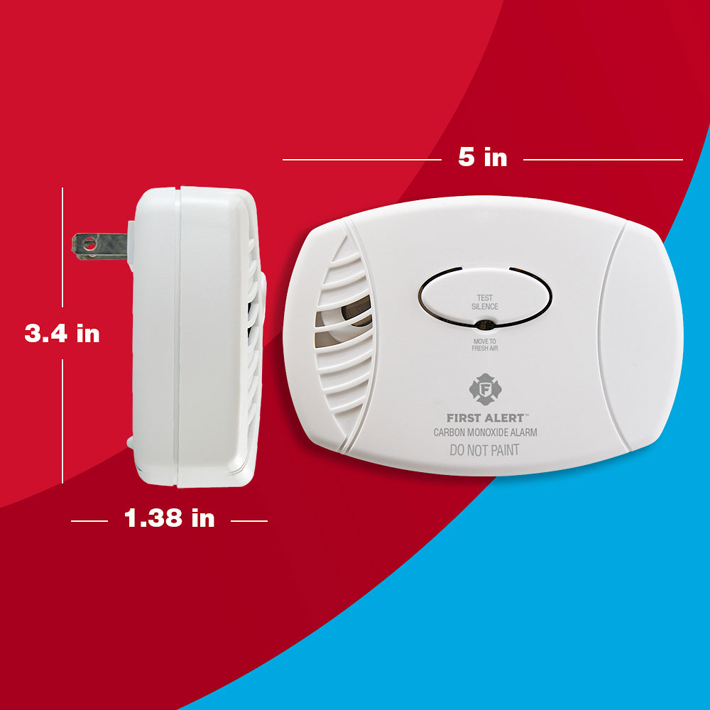 First Alert Plug-In Carbon Monoxide Alarm with Battery Backup - CO605 (1039734)
