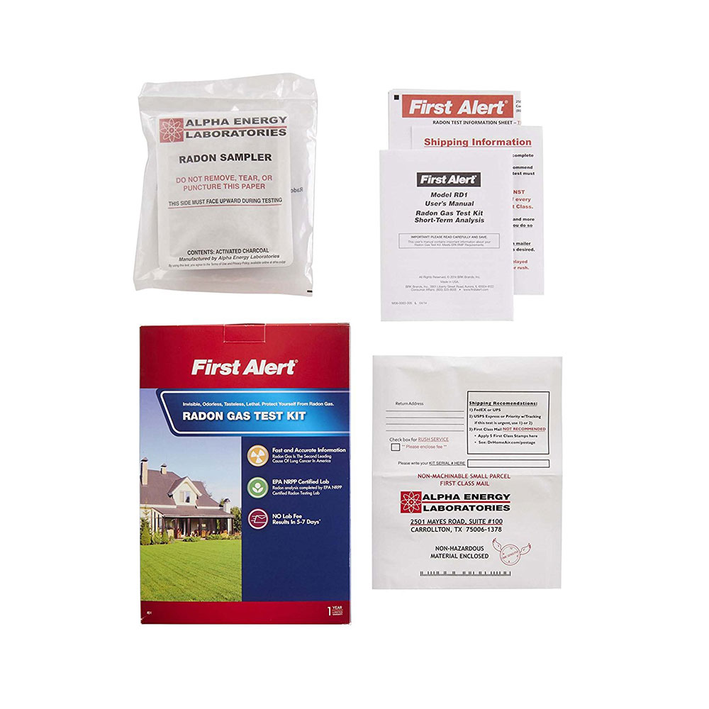 First alert rd1 radon test kit first alert store - The office radon test kit ...