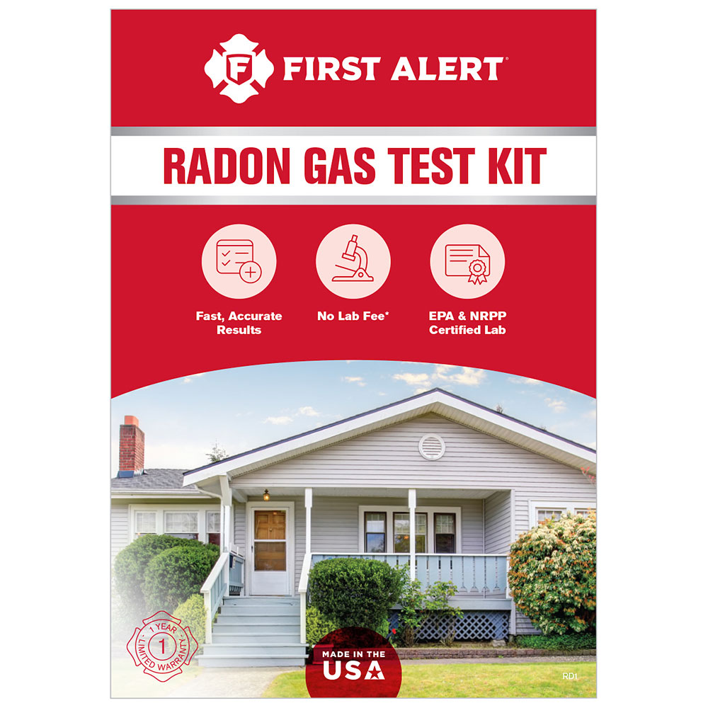 first alert radon testing kit