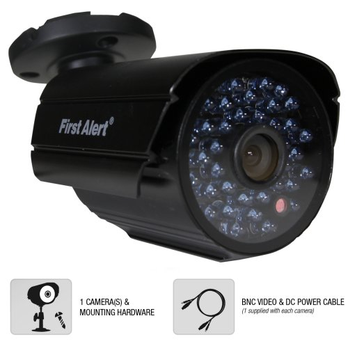 First Alert Cm600 Smartbridge Digital Wired Indoor And Outdoor Night Vision 600 Tvl Security Camera