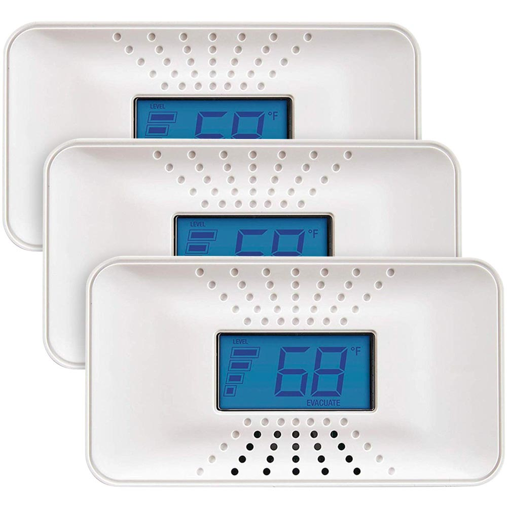 3 Pack Bundle of First Alert Carbon Monoxide Alarm with Temperature, Digital Display and 10-Year Sealed Battery, CO710