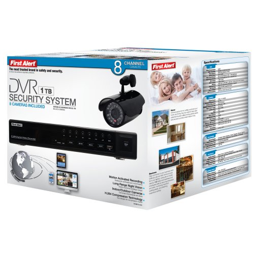 The First Alert Dc8810 420 Wired Dvr Security System With
