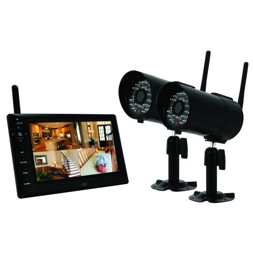 First Alert Digital Wireless Recording System with 7 inch LCD Display and Two Digital Cameras (DWS-472)