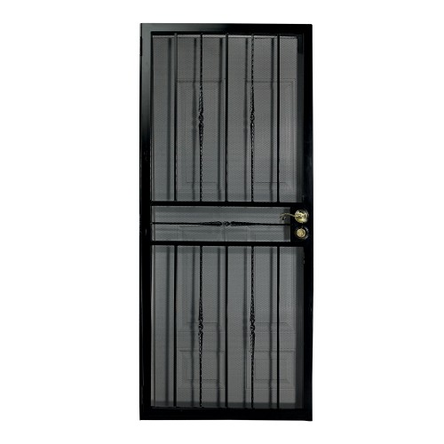 First Alert 68136X80 Venetian Security Screen Door 36IN X 80IN
