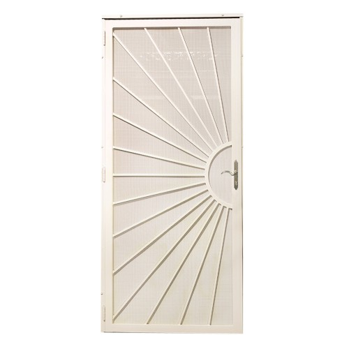 First Alert D10FA36X80NW Sunrise Security Screen Door 36IN X 80IN (Navajo White)