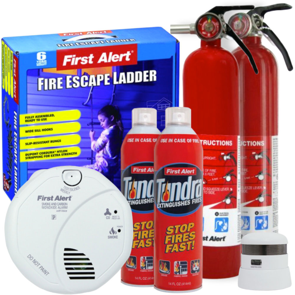 First Alert Home Fire Safety Premium Value Pack