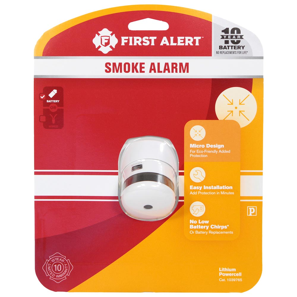 first alert p1010 ten year battery atom photoelectric micro smoke alarm first alert store. Black Bedroom Furniture Sets. Home Design Ideas