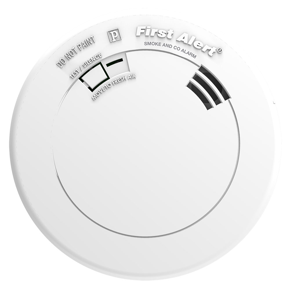 First Alert Prc700v Slim Design Battery Combination Smoke Co Alarm Detector Wiring Diagram Operated Carbon Monoxide With Voice And