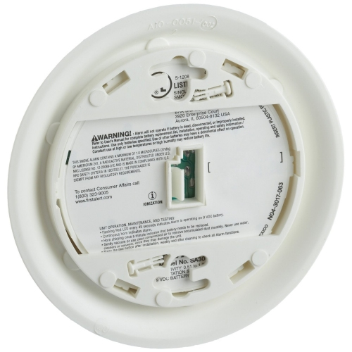 First Alert Battery Operated Ionization Smoke Alarm - SA300CN3 (1039791)
