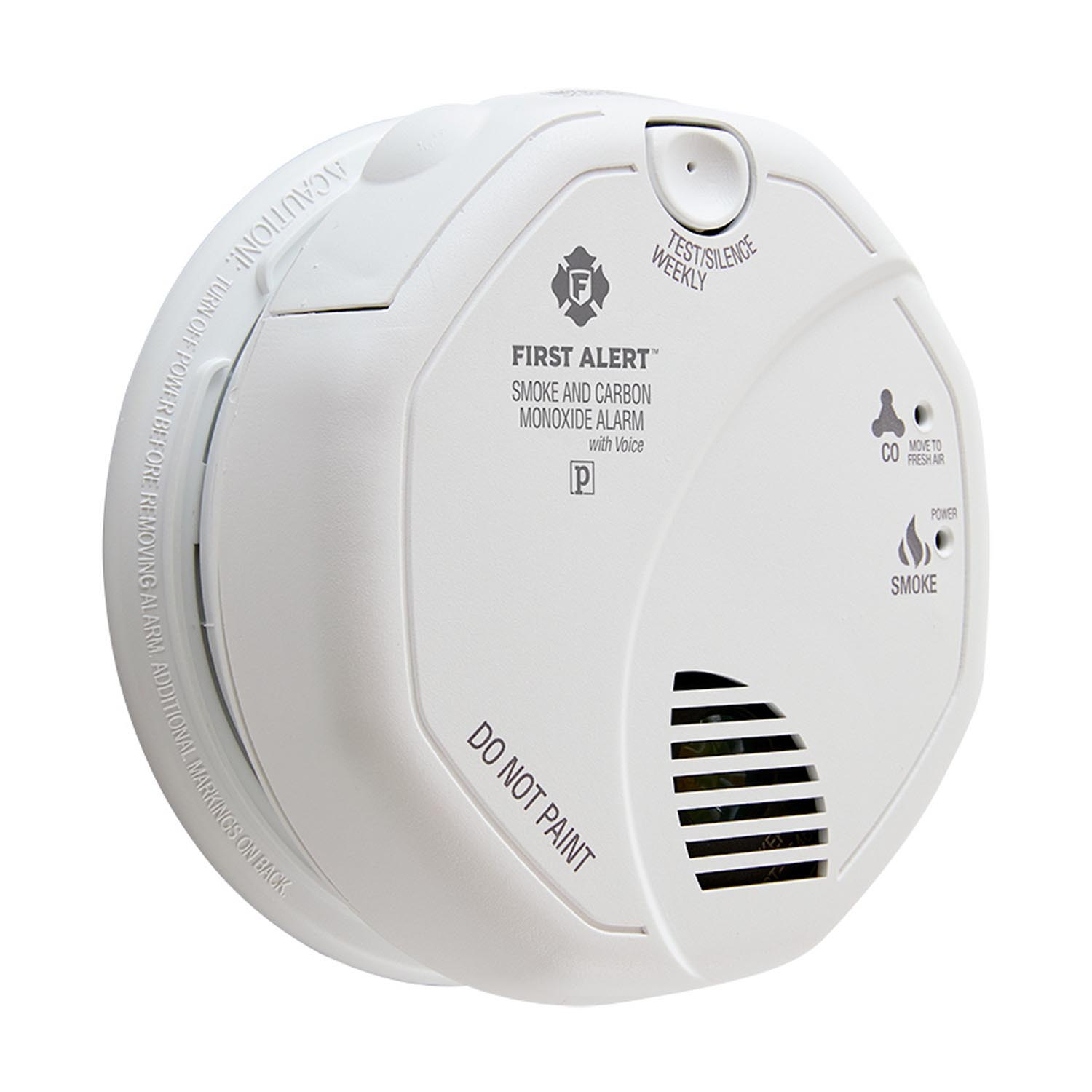 First Alert Hardwired Photoelectric Smoke and Carbon Monoxide Alarm with Voice & Location Feature - SC7010BV