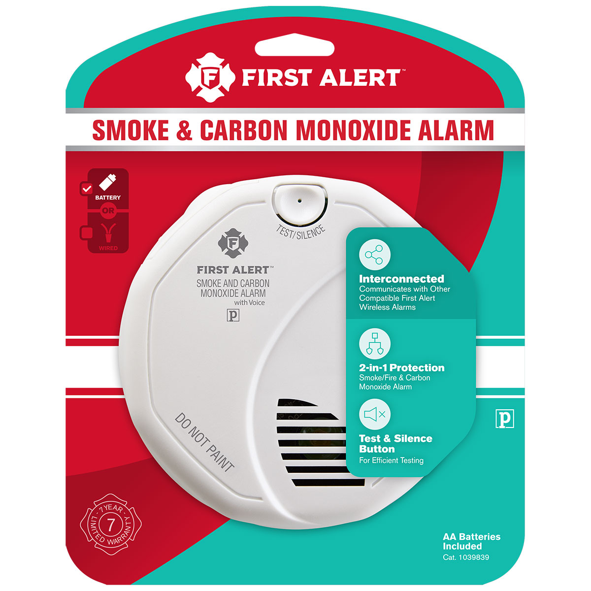 3 pack bundle of first alert wireless talking battery operated smoke co alarm first alert store. Black Bedroom Furniture Sets. Home Design Ideas