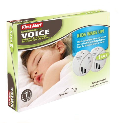 First Alert Child Awakening Combo Smoke & CO Alarm with Voice Location Feature, 2pk SC07CN-C2