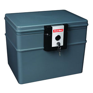 First Alert 0.62 Cubic Foot Water and Fire Protector File Chest