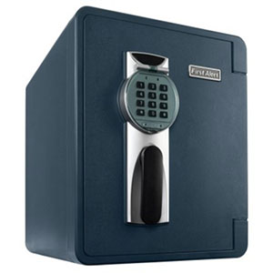 First Alert 2092DF-BD Digital Waterproof and Fire Resistant Bolt-Down Safe