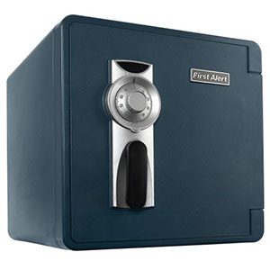 First Alert 2092F Water, Fire and Theft Combination Safe, 1.3 Cubic Foot