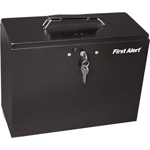 First Alert Steel Hanging Folder File Box