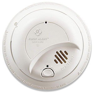 First Alert BRK Brands Hardwired Ionization Smoke Alarm with 10-Year Battery Backup - 9120LBL