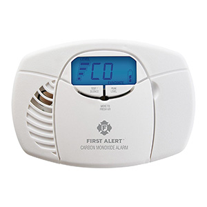Battery Operated Carbon Monoxide Alarm with Backlit Digital Display