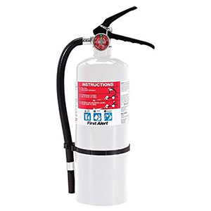 First Alert HOME2 Rechargeable Compliance Fire Extinguisher UL 2-A:10-B:C