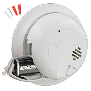 120VAC Hardwired Smoke Alarm with Battery Backup