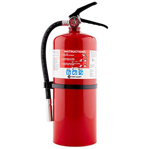 First Alert Rechargeable Commercial Fire Extinguisher UL rated 4-A:60-B:C (Red)