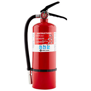 First Alert Rechargeable Heavy Duty Plus Fire Extinguisher UL rated 3-A:40-B:C (
