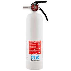 First Alert REC5 Rechargeable Recreation Fire Extinguisher 5-B:C (White)