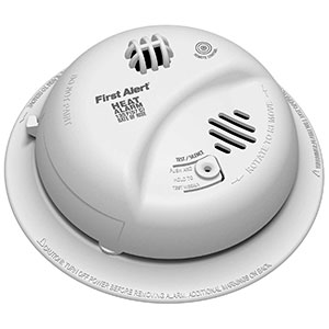 First Alert BRK Brands Hardwired Heat Alarm with Battery Backup, HD6135FB