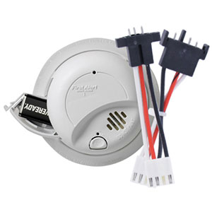 First Alert Hardwired 120-Volt AC Smoke Alarm with Adapter Plugs, SA9120BPCN