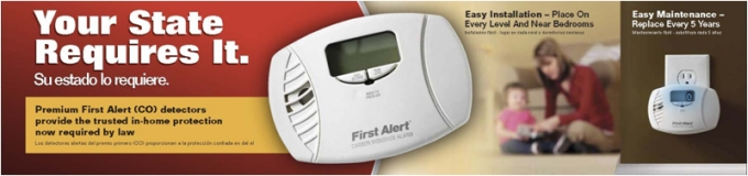 California require carbon monoxide detectors - new law in your state.